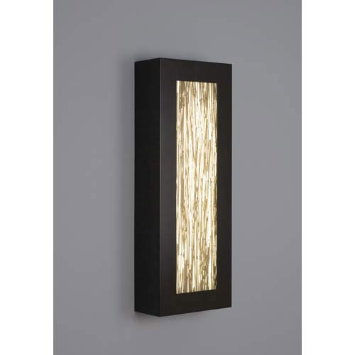 WPT Design V-II Rectangle Thatch Fluorescent Wall Sconce