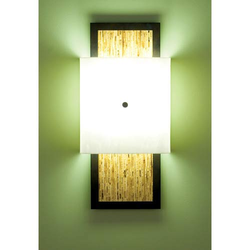 Window White/Sorghum Fluorescent Two-Light Wall Sconce