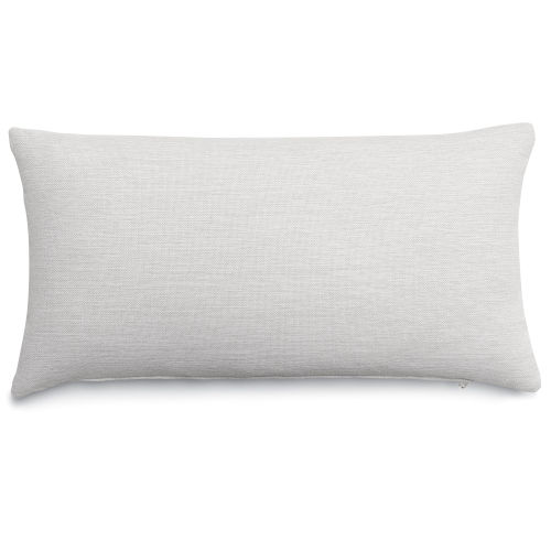 White Patio Lumbar Pillow