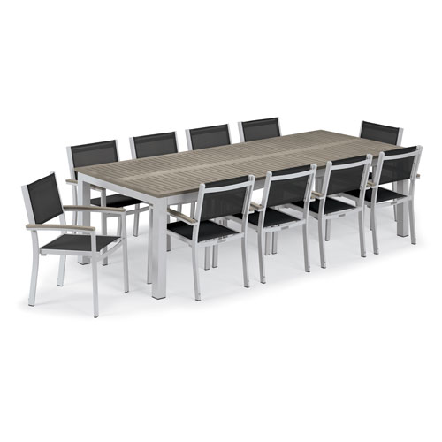 Travira 11-Piece Dining Set With Armchairs