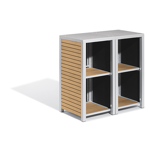 Travira 2-Piece Modular Valet Shelves Bases Set