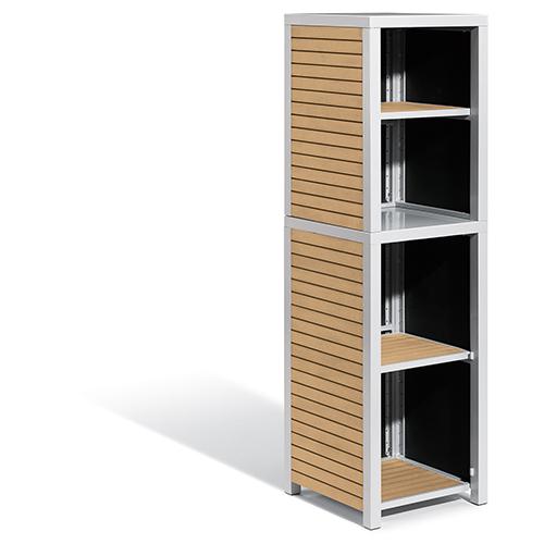 Travira 2-Piece Modular Valet Shelves Base with Hutch Set