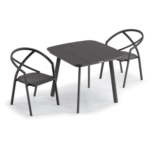 Azal Carbon Dining Table Set, Three-Piece