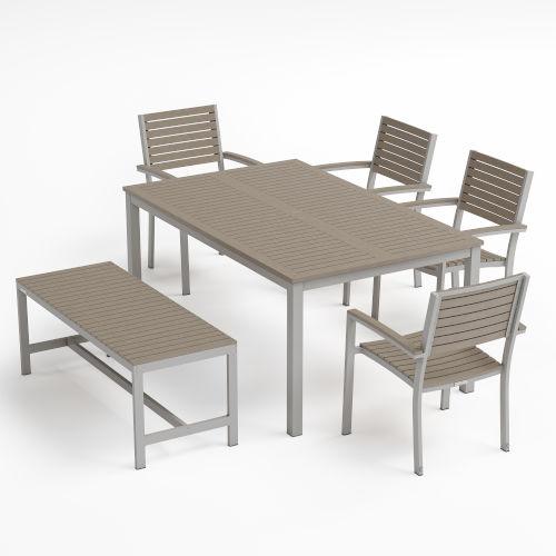 Travira Rectangular Dining Set, Six-Piece