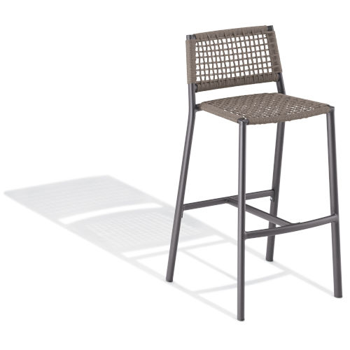Eiland Carbon and Mocha Patio Bar Stool