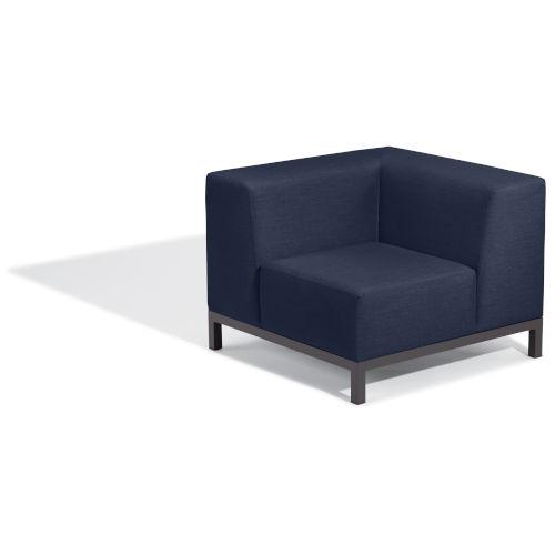 Koral Carbon and Spectrum Indigo Patio Corner Seat