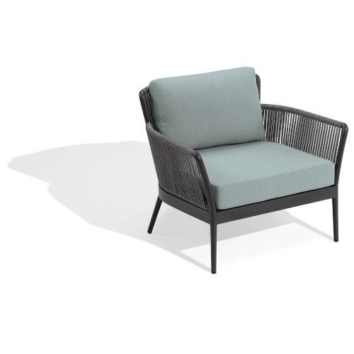 Nette Carbon and Seafoam Patio Club Chair
