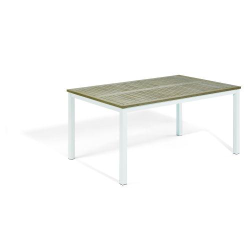Travira Coated Aluminum Frame 63-Inch Rectangular Dining Table