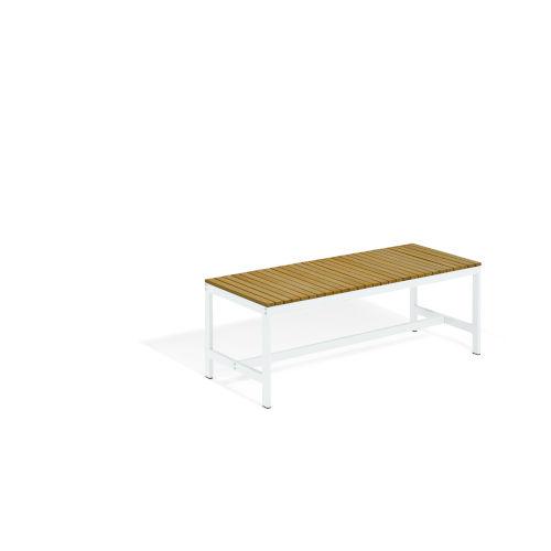 Travira Coated Aluminum Frame Backless Bench