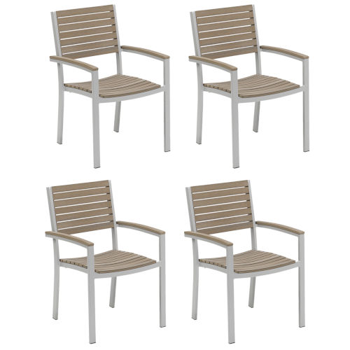 Travira Vintage Tekwood Armchair, Set of Four