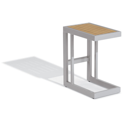 Travira Aluminium and Natural Outdoor C Table