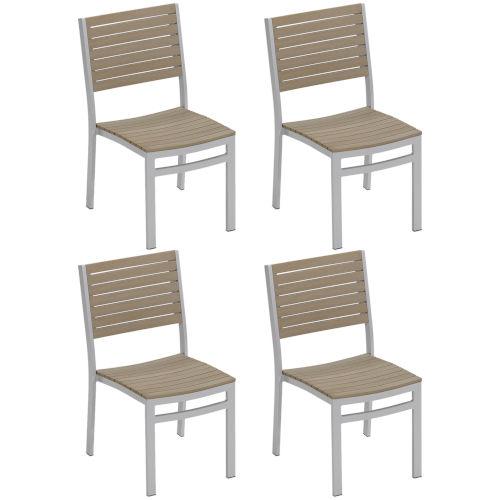 Travira Vintage Tekwood Side Chair, Set of 4