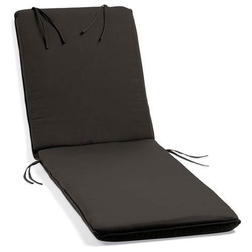 Oxford Garden Sunbrella Cushion for Oxford Chaise Lounge - Black Sunbrella® Fabric