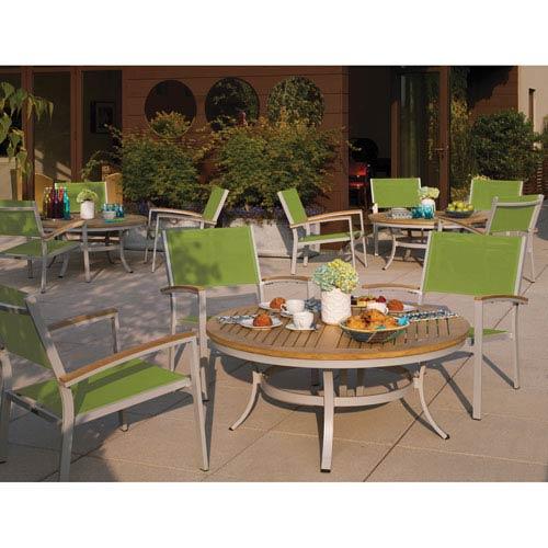 Travira Natural Tekwood 5 Piece Café Set with Go Green Sling Seats