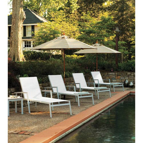 Travira Natural Sling 8 Piece Chaise Lounge Set with Vintage Tekwood
