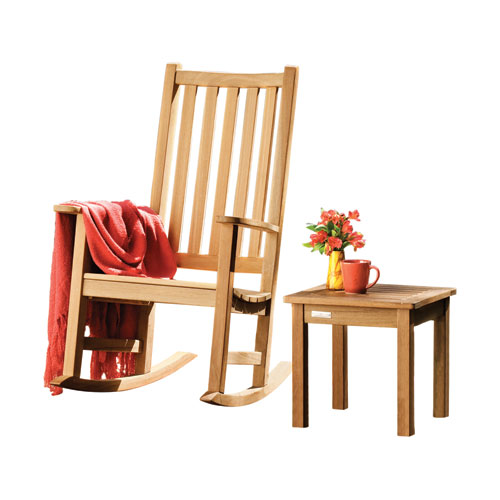 Franklin - 2-Piece Chat Set - Natural Shorea - No Cushion
