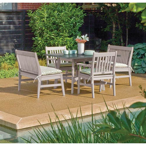 Oxford Garden Wexford   5 Piece Dining Set With 48 Inch Table And Armchairs