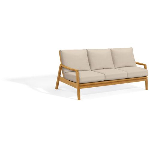 Siena Sofa - Natural Shorea - Camel Polyester Cushion