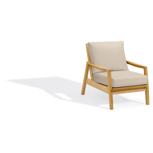 Siena Club Chair - Natural Shorea - Camel Polyester Cushion