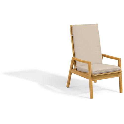 Siena Reclining Armchair - Natural Shorea - Camel Polyester Cushion