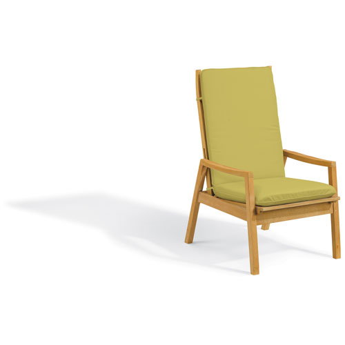 Siena Reclining Armchair - Natural Shorea - Peridot Polyester Cushion