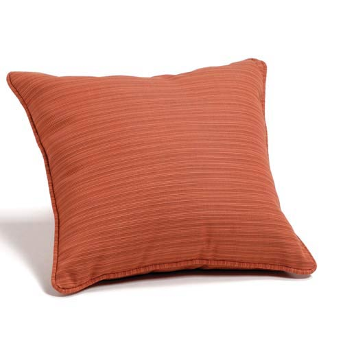 Dupione Papaya 15-Inch Square Throw Pillow