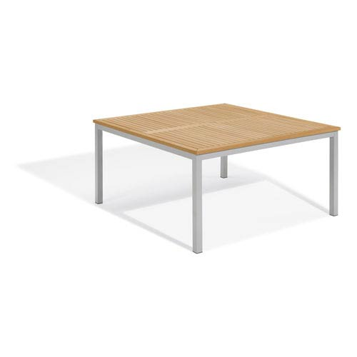 Travira Natural Tekwood 60-Inch Square Dining Table