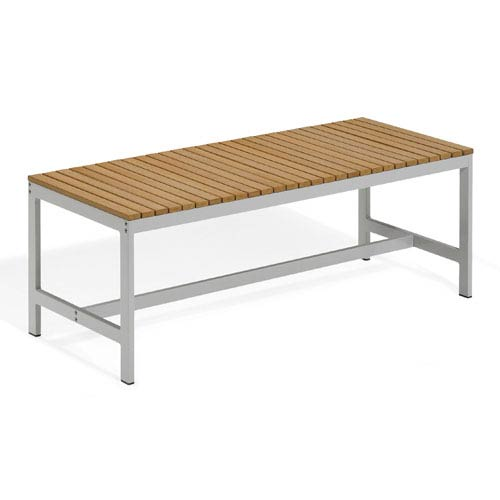Oxford Garden Travira 48 Inch Natural Tekwood Backless Bench
