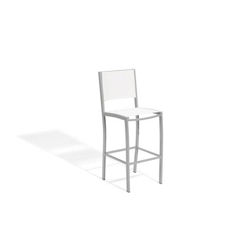 Travira Natural Sling Seat Bar Chair with Powder Coated Aluminum Frame