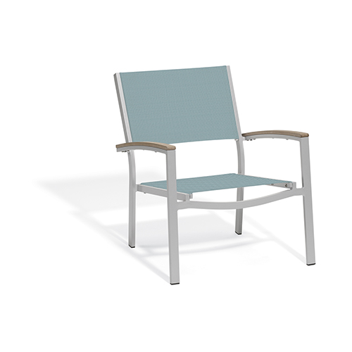 Oxford Garden Travira Slate Sling Chat Chair - Set of 2