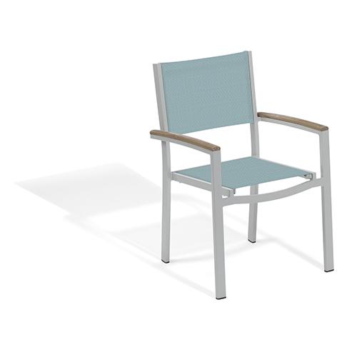 Oxford Garden Travira Slate Sling Armchair Chair - Set of 2