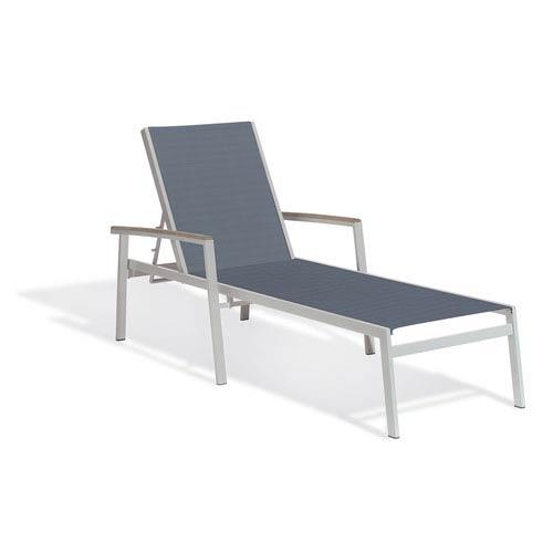 Travira Titanium Sling Seats Chaise Lounge Set of 2