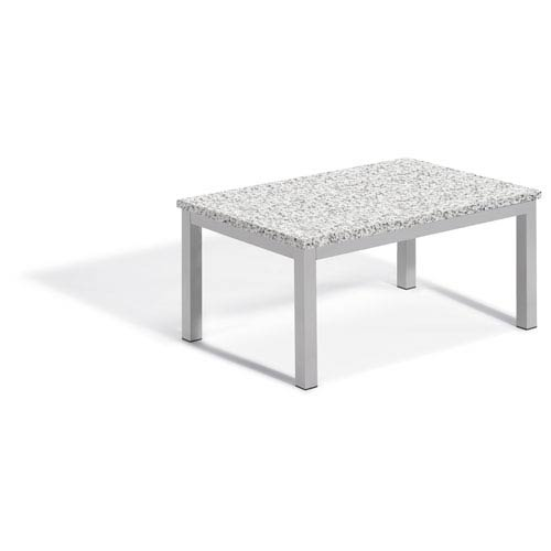Travira Coffee Table - Powder Coated Aluminum Frame - Lite-Core Granite Ash Top