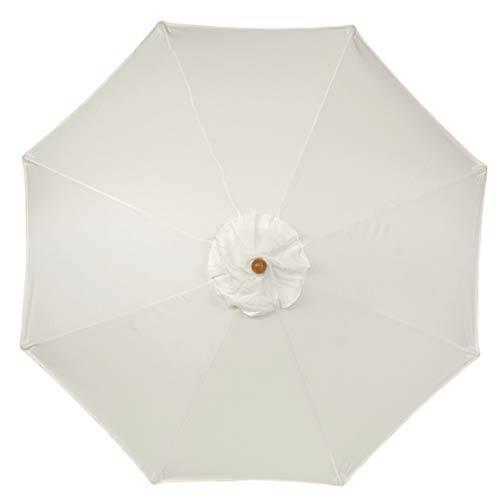 9-Ft. Natural Octagonal Sunbrella Market Umbrella