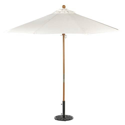 9-Ft. Natural Octagonal Sunbrella Market Umbrella
