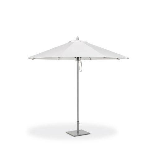 9 Ft. Octagon Sunbrella Market Natural Umbrella with Brushed Aluminum Frame