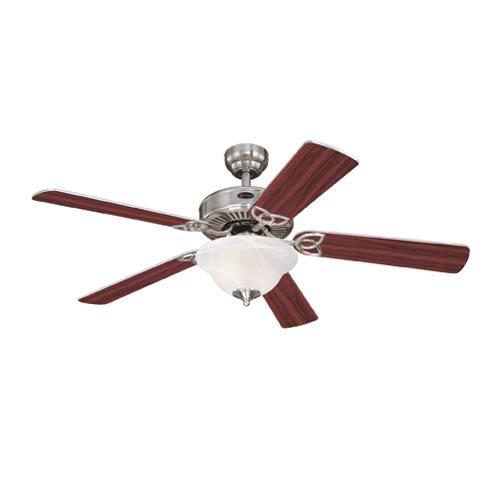 Vintage II 52-Inch Brushed Nickel Ceiling Fan