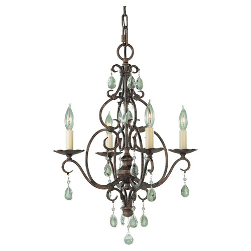 Hampshire Bronze Four-Light Mini Chandelier