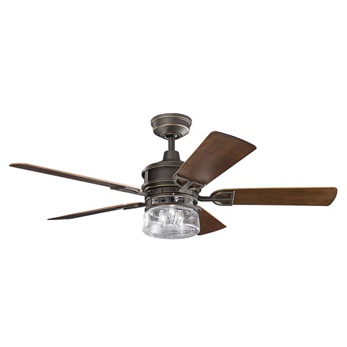 Mill & Mason AspenHill Patio Olde Bronze 52-Inch Outdoor Ceiling Fan with Light Kit