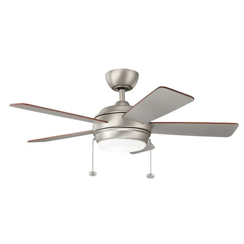 Mill & Mason Gladstone Brushed Nickel 42-Inch LED Ceiling Fan with Light Kit