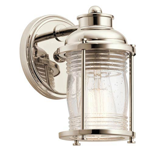 Pavilion Polished Nickel One-Light Bath Sconce