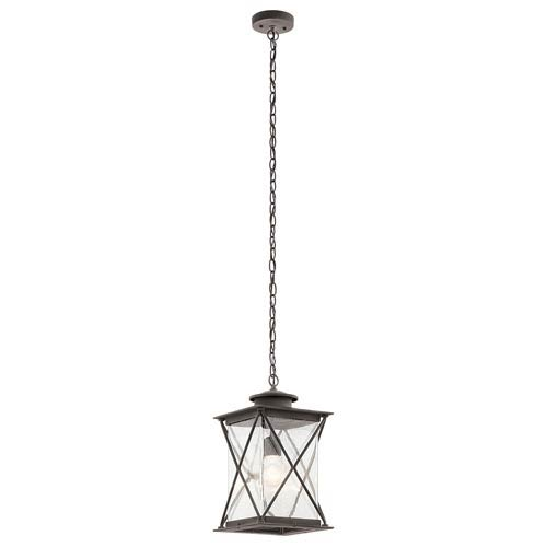 Lincoln Weathered Zinc One-Light Outdoor Pendant