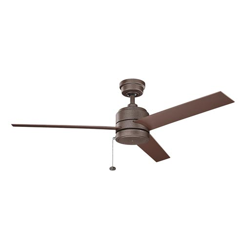 Richmond Patio Weathered Copper Powder Coat Outdoor Ceiling Fan