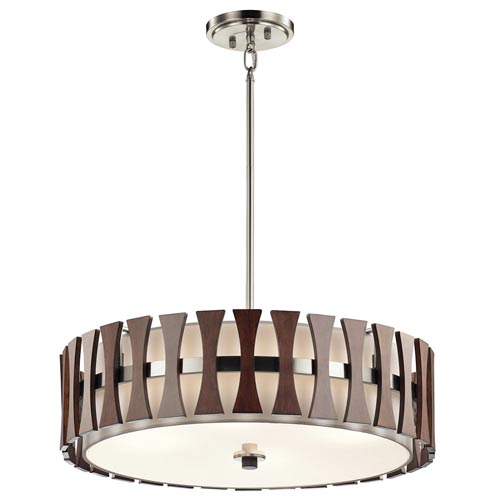 Edgemont Auburn Stained Four-Light Pendant