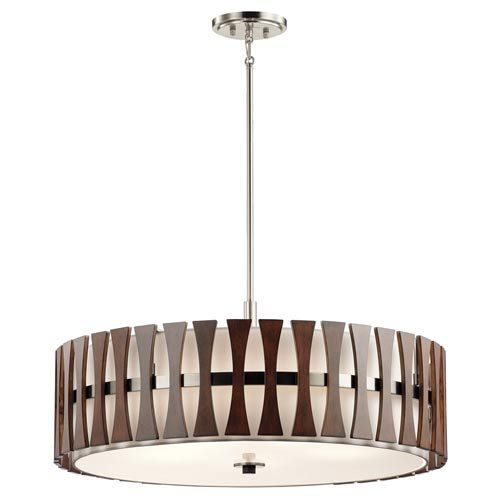 Edgemont Auburn Stained Five-Light Pendant