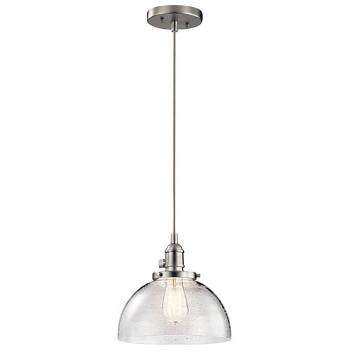 Mill & Mason Nicholson Brushed Nickel One-Light Dome Pendant