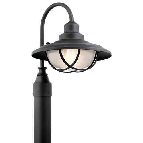 Broadwick Textured Black One-Light Outdoor Post Lantern