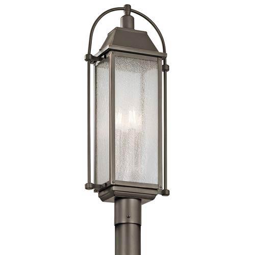 Harleton Olde Bronze Four-Light Outdoor Post Lantern