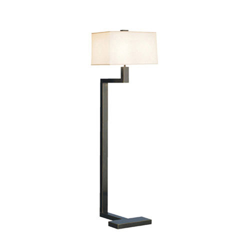 Adams Deep Patina Bronze Two-Light Floor Lamp