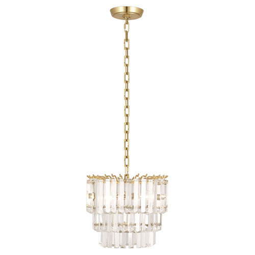 Mill & Mason Fulham Brass Two-Light Mini Chandelier